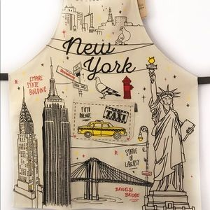 New York Print Kitchen Cooking Apron